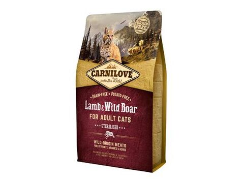 Carnilove Cat Lamb & Wild Boar Adult Sterilised 2kg