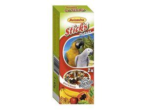 Avicentra tyčinky velký papoušek ovoce & med 2ks
