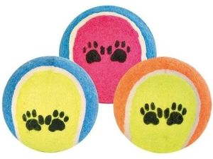 Trixie hračka pes míč tenisový barevný s tlapkou 6,5cm