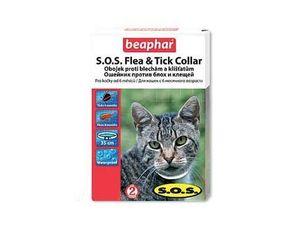 Beaphar Obojek antiparazitní kočka S.O.S. Flea Tick - 35 cm