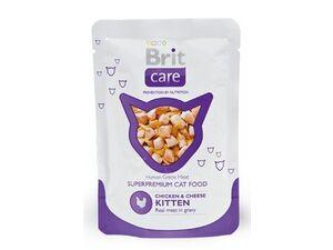 Brit Care Cat kapsa KITTEN Chicken & Cheese Pouch 80g