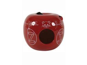 Zolux domek pro hlodavce Jablko červené 13x13x11cm