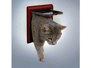 Trixie Freecat Classic průchozí dvířka kočka plast 2P hnědá 1ks